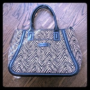 Brown zebra Vera Bradley handbag purse